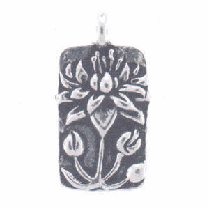 sterling silver findings depicting the lotus flower, the inspiration of floating lotus jewelry